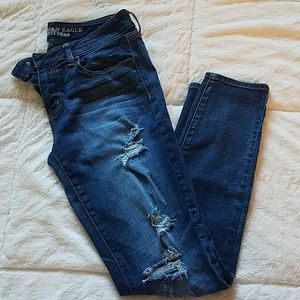 AEO Distressed Jeggings